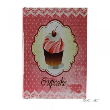 Livro Caixa Cupcake Rosa P