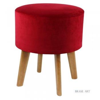 Puff Redondo Vermelho
