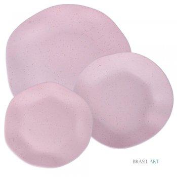 Conjunto de Pratos Ryo Pink Sand 18 Peças