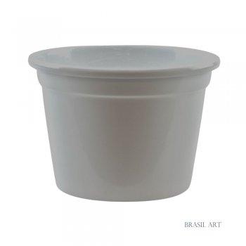 Cachepot em Alumínio Branco M